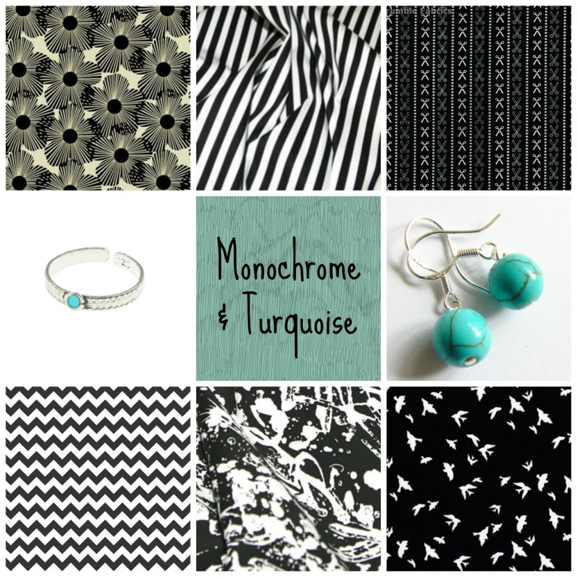 Monochrome and Turquoise