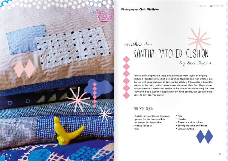 Patched Cushion Tutorial