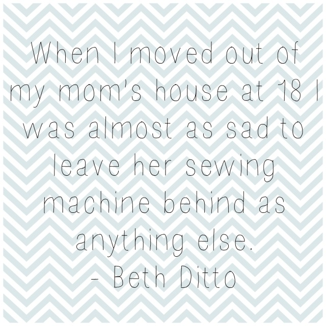 Beth Ditto Sewing Quote