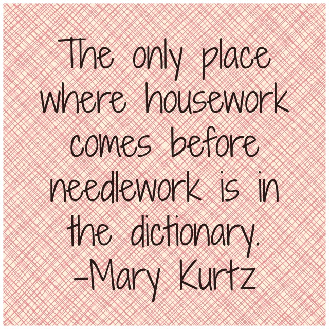 Mary Kurtz Sewing Quote