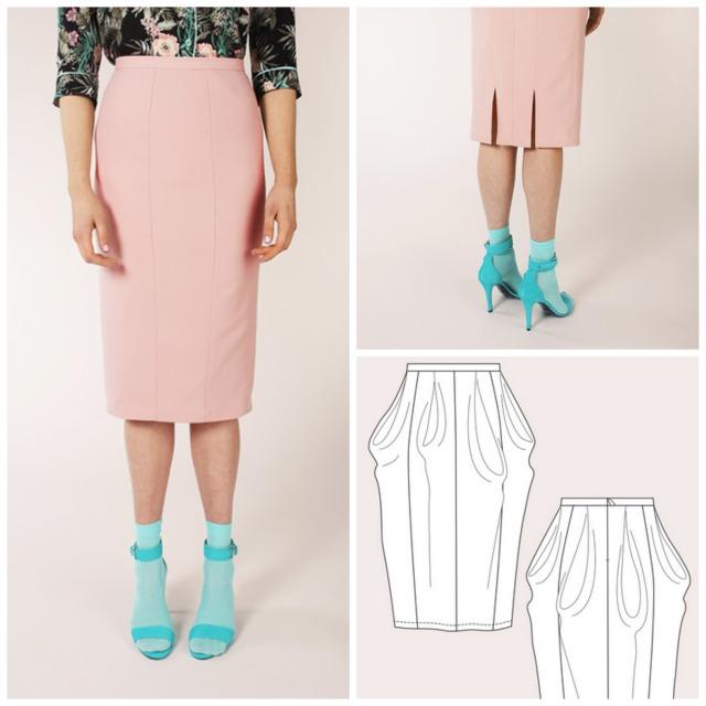 Named Zaria Pencil Skirt