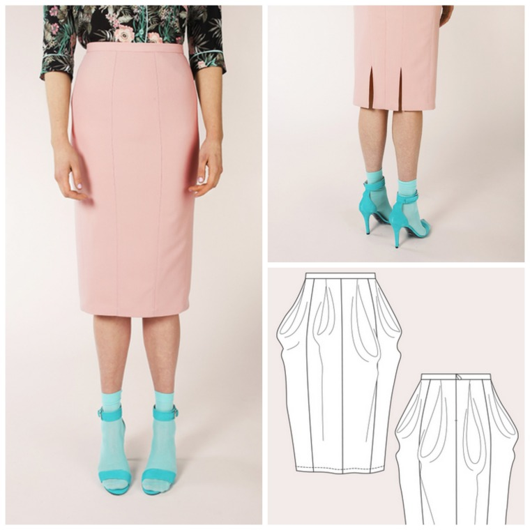 Named Zaria Pencil Skirt