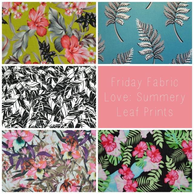Leaf Print Fabric