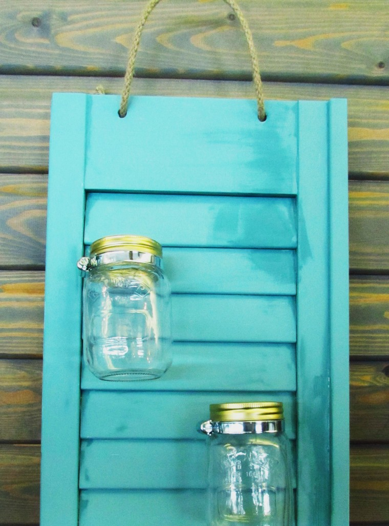 Upcycled Kilner Jar Shutters